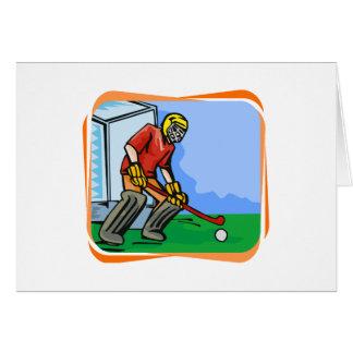 Field Hockey goalie boy Greeting Card