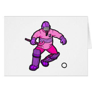 Field Hockey goalie Greeting Card