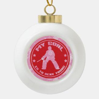 Field Hockey Goalie Holiday Ornament