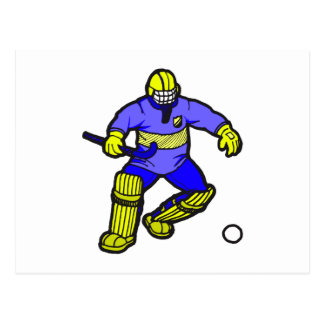 Field Hockey goalie Postcard