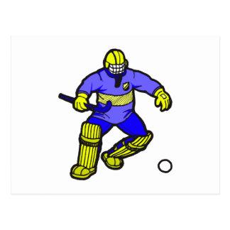 Field Hockey goalie Post Cards