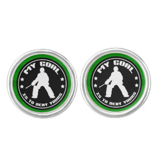 Field Hockey Goalie Quote Cufflinks