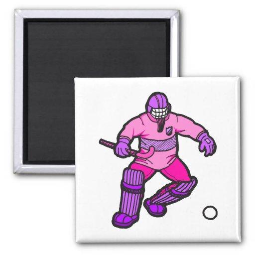 Field Hockey goalie Refrigerator Magnets