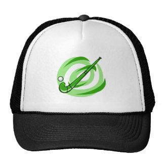 Field Hockey green logo Trucker Hats