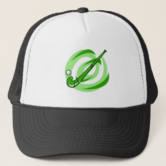 Field Hockey green logo Trucker Hat