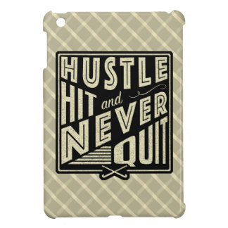 Field Hockey Hustle, Hit And Never Quit Cover iPad Mini Covers