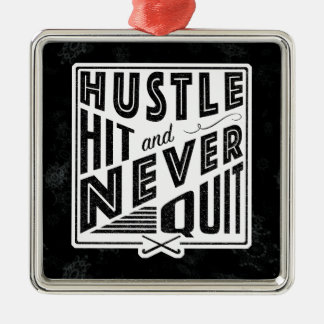 Field Hockey Hustle Hit Holiday Ornament