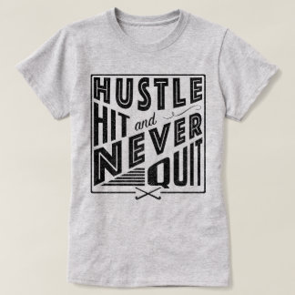 Field Hockey Hustle, Hit & Never Quit Tee