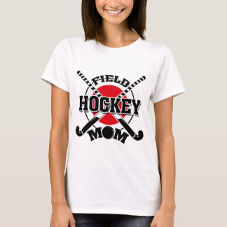 Field Hockey Mom Crossed Hockey Sticks Hockey Ball T-Shirt
