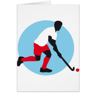 Field Hockey more player Greeting Card