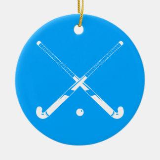 Field Hockey Ornament w/Name Blue