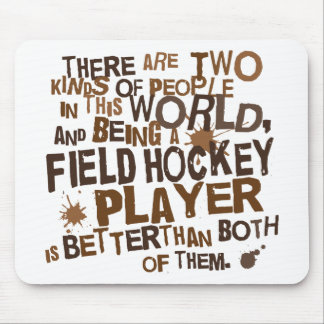 Field Hockey Player Gift Mouse Mat