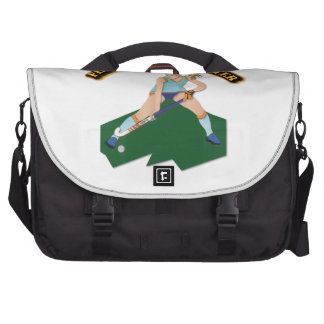 Field Hockey Player with Text Laptop Shoulder Bag