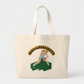 Field Hockey Player with Text Bags