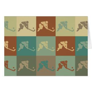 Field Hockey Pop Art Card