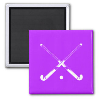 Field Hockey Silhouette Magnet Purple