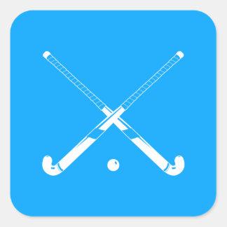 Field Hockey Silhouette Sticker Blue