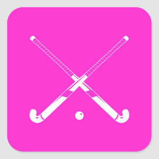 Field Hockey Silhouette Sticker Pink