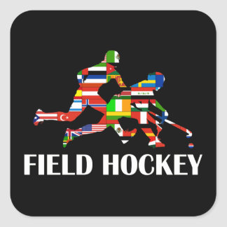 Field Hockey Square Sticker