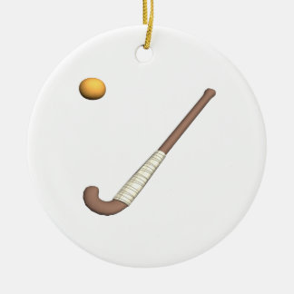 Field Hockey Stick & Ball Christmas Ornament