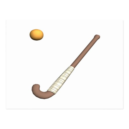 Field Hockey Stick & Ball Postcard