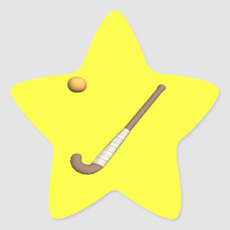 Field Hockey Stick & Ball Star Sticker