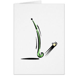 Field Hockey stick Greeting Cards