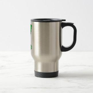 Field Hockey stick green Travel Mug