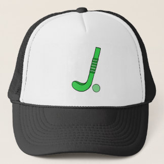 Field Hockey stick green Trucker Hat