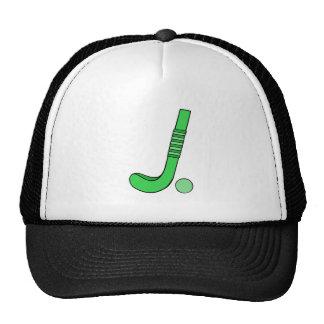 Field Hockey stick green Trucker Hats