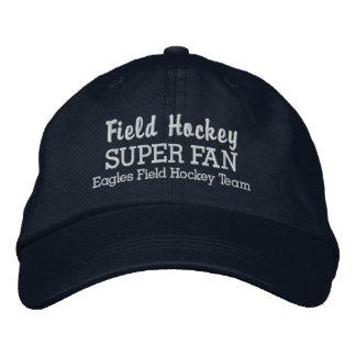 Field Hockey Super Fan Custom Sports Team Embroidered Cap