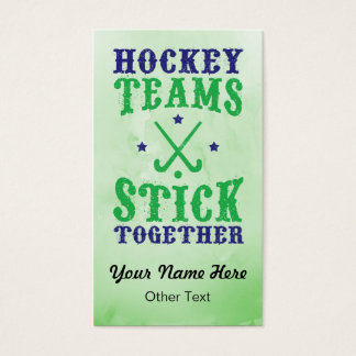 Field Hockey Teams Stick Together Business Cards. Business Card