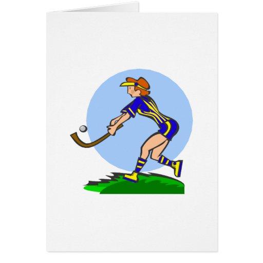 Field Hockey Woman Card