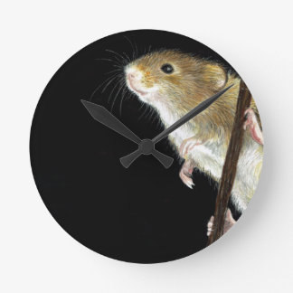 Field Mouse design Round Clock