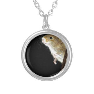 Field Mouse design Silver Plated Necklace