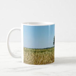 Field of Barley in Cornwall Photograph Coffee Mugs