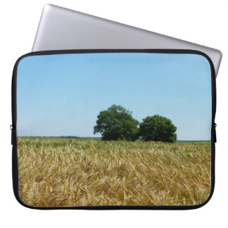 Field of Barley in Cornwall Photograph Laptop Sleeve