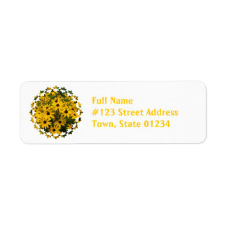 Field of Black Eyed Susan Mailing Labels