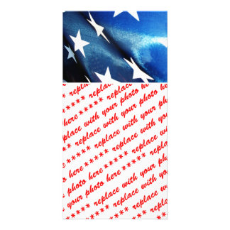 Field of Blue of the American Flag Card