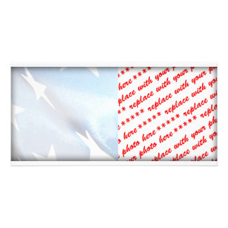 Field of Blue of the American Flag Photo Card Template
