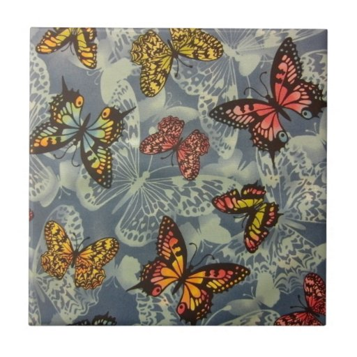 Field of Butterflies Ceramic Tile