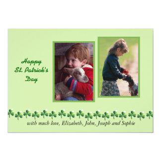 Field of Clover St. Patrick's Day Photo Card 13 Cm X 18 Cm Invitation Card