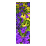 Field of Colours Bookmark Pack Of Skinny Business Cards