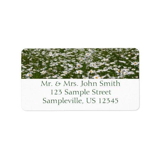 Field of Daisies Alaskan Wildflowers Label
