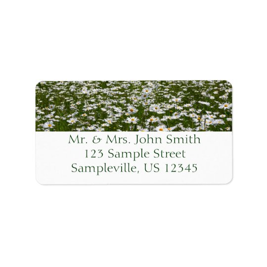 Field of Daisies Nature Photo Address Label