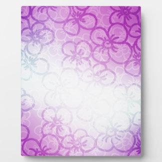 Field Of Flower - Purple Plaque