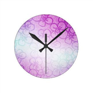 Field Of Flower - Purple Wall Clocks