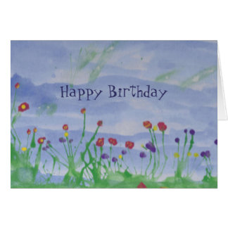 FIELD OF FLOWERS-Birthday Card