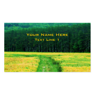 Field Of Flowers Nature Art Pack Of Standard Business Cards