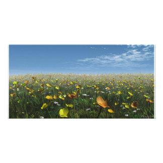 Field of Flowers Photo Card